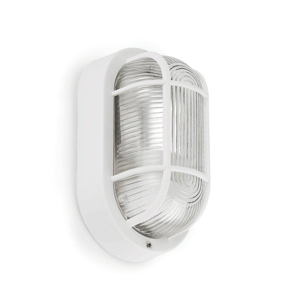 Óvalo Wall Lamp Outdoor Estanco white 1L 60w