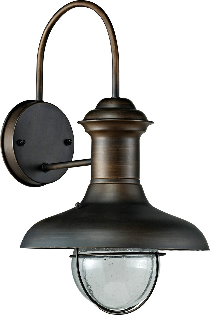 Estoril P Wall Lamp Outdoor Brown Oxide 1L 60w