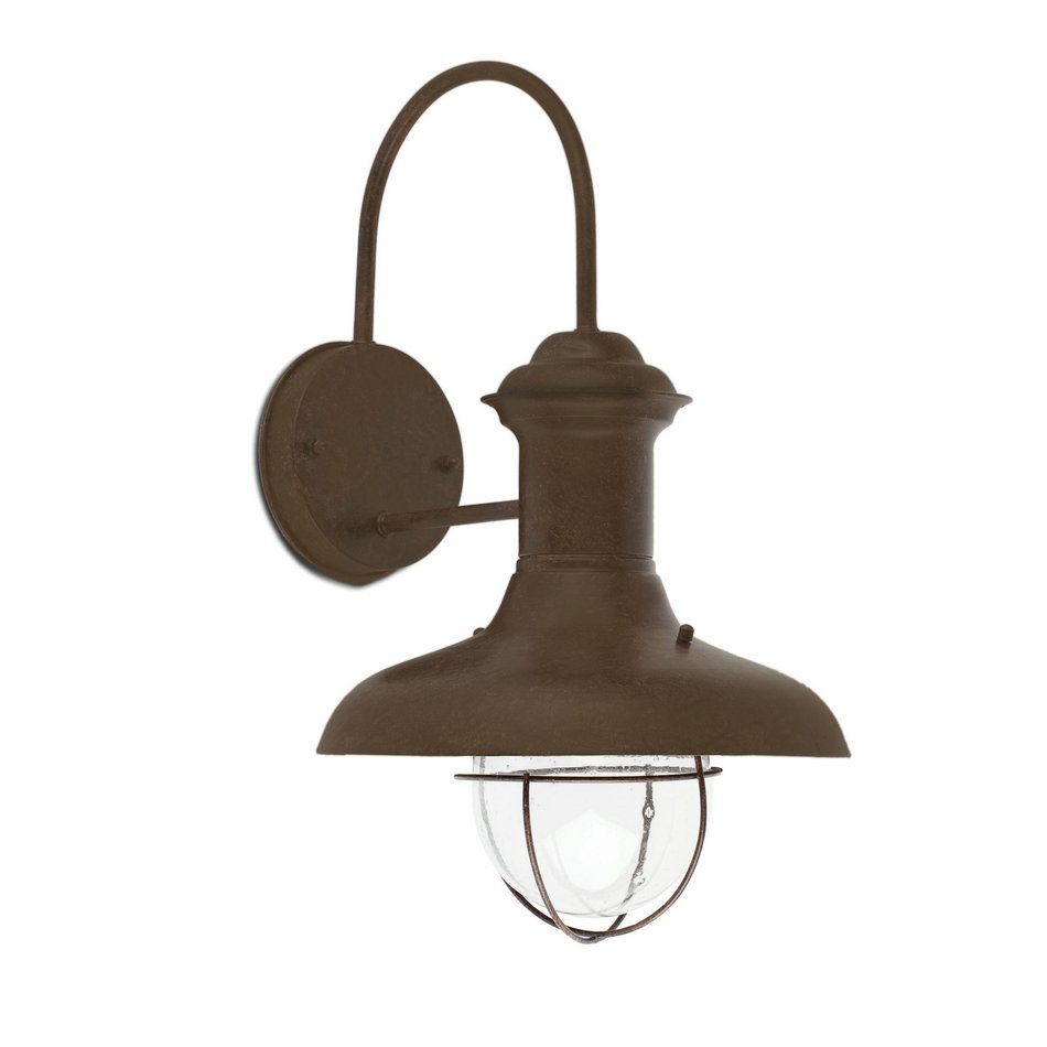 Estoril G Wall Lamp Outdoor Brown Oxide 1L 60w