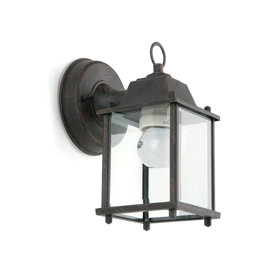 Dado P Wall Lamp Outdoor Brown 1L 20w