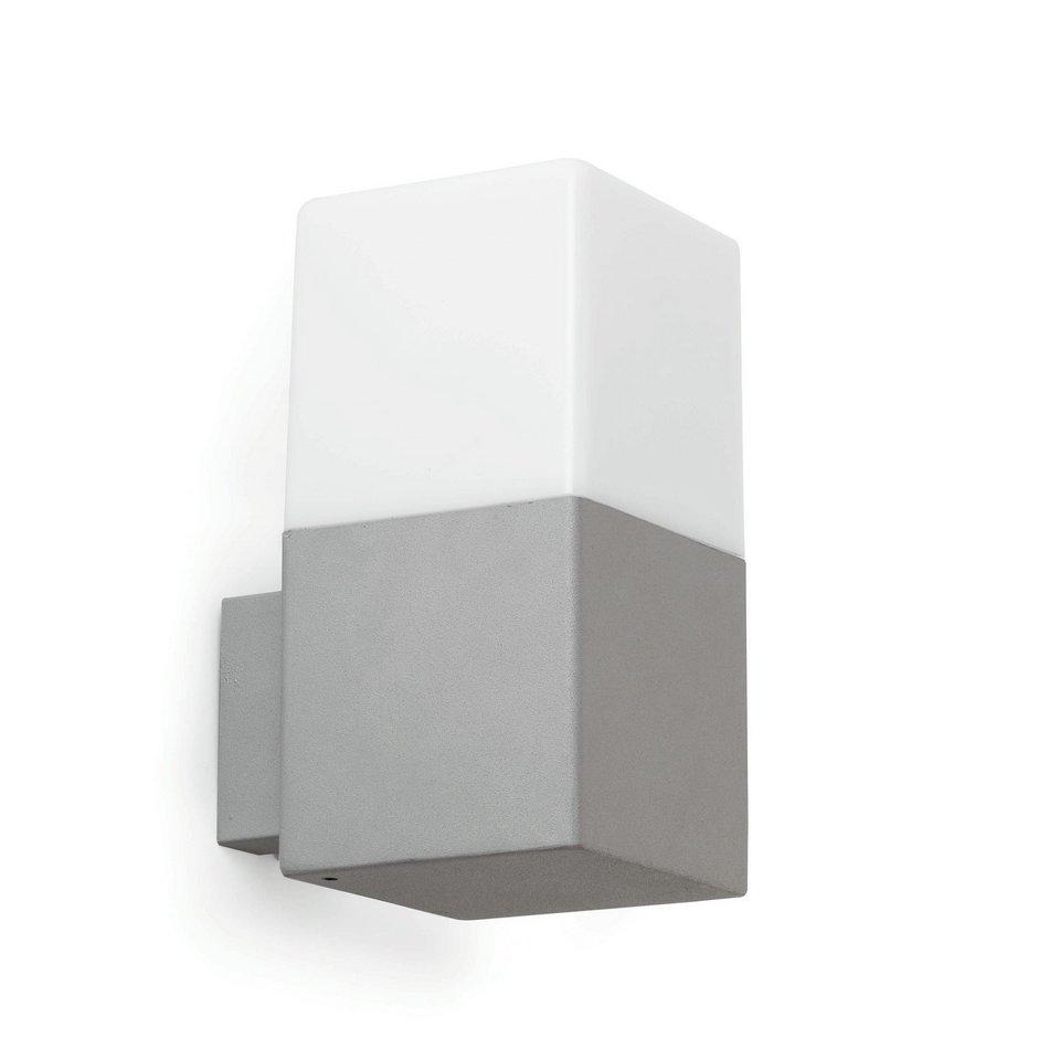 Tarraco Aplique Exterior gris Claro 1L E27 13w