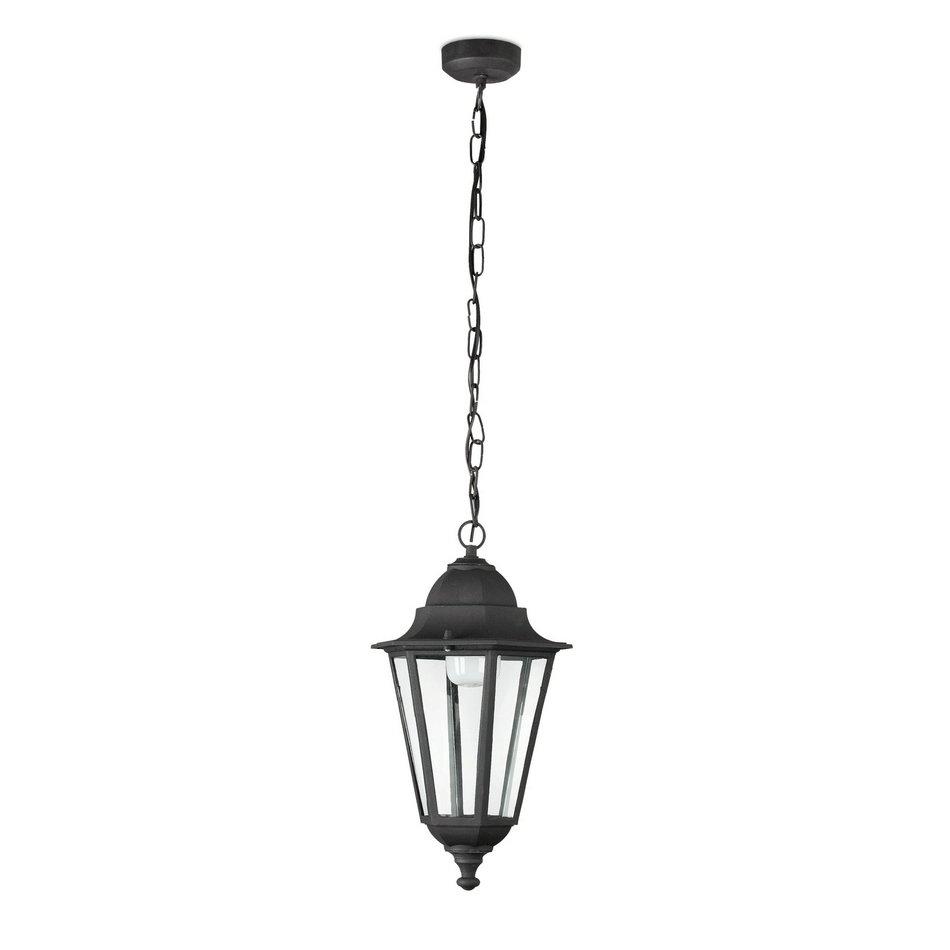 París Pendant Lamp Outdoor Black 1L 20w