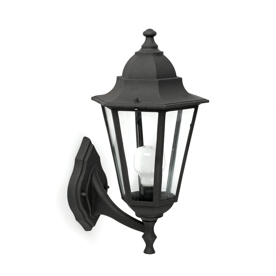 París Wall Lamp Outdoor Black 1L 20w