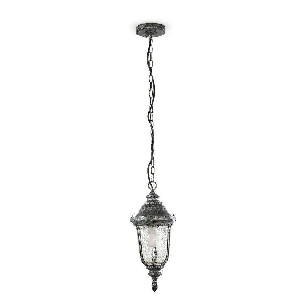Toledo Pendant Lamp Outdoor Silver aged 1L 20w