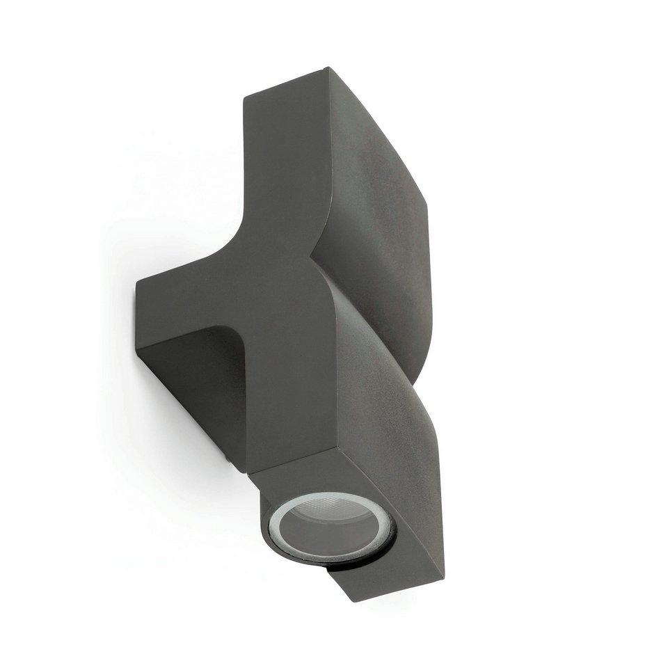 KAplique Exterior 2L gris Oscuro GU10 11w