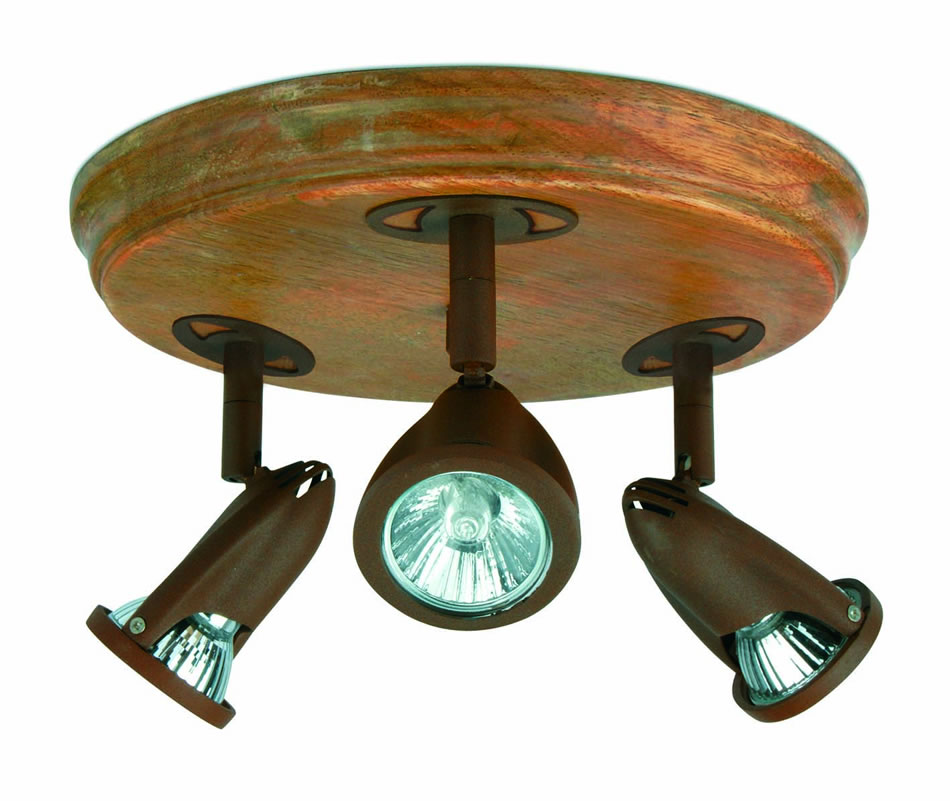 Star 7 ceiling lamp Wood Brown Oxide 3L