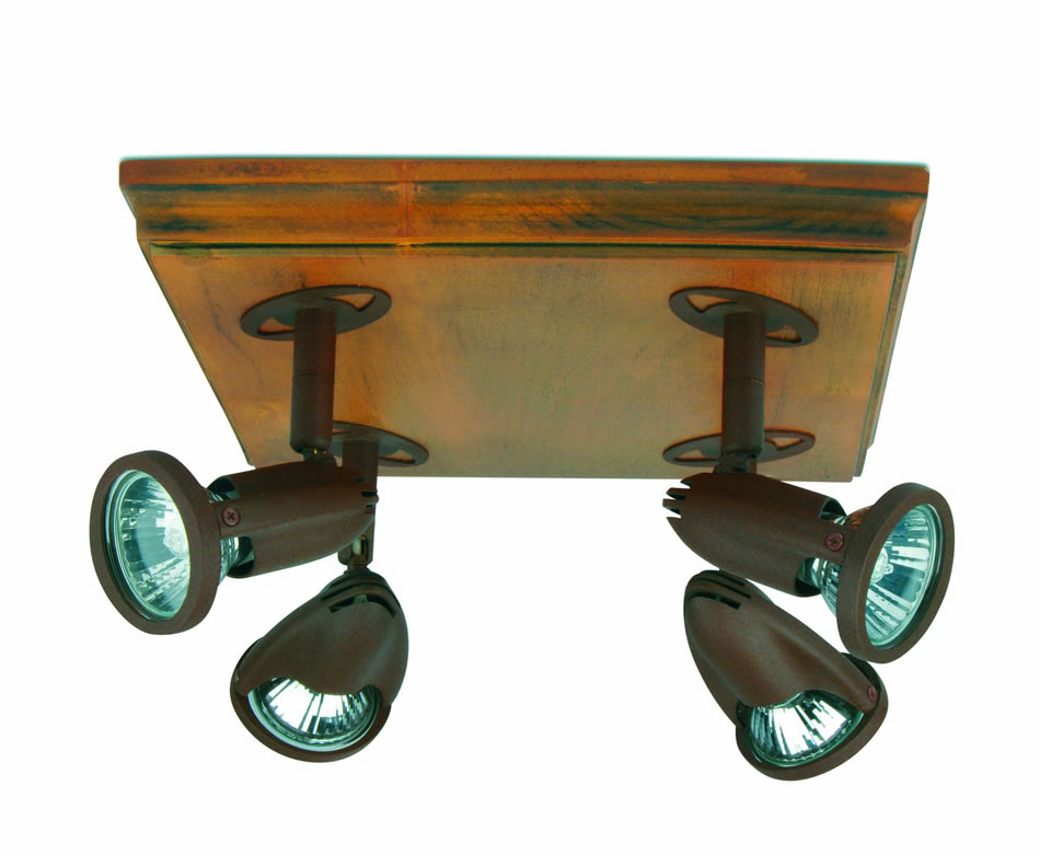 Star 8 ceiling lamp Wood Brown Oxide 4L