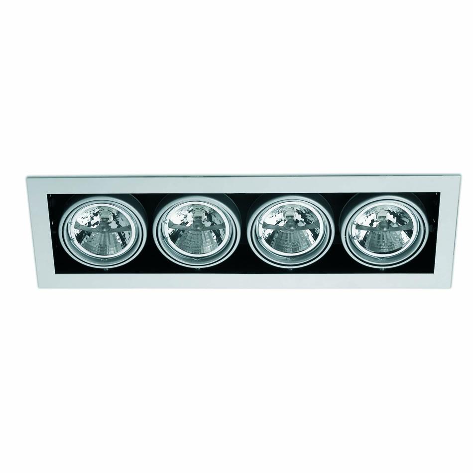 Helio 4 Lamp Recessed Grey 4L
