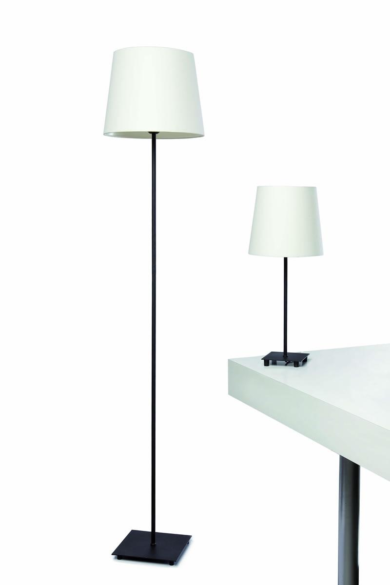 Banff Sobremesa + lámpara de Pie negro