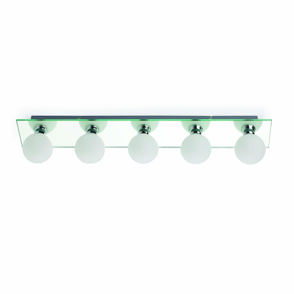 Lass Wall Lamp Baño Chrome 5L