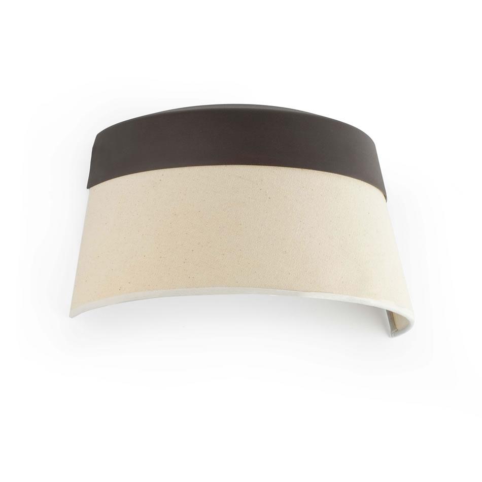 Sac Lampe Moyen Applique Brun Beige 2xE14 max 60W no incl
