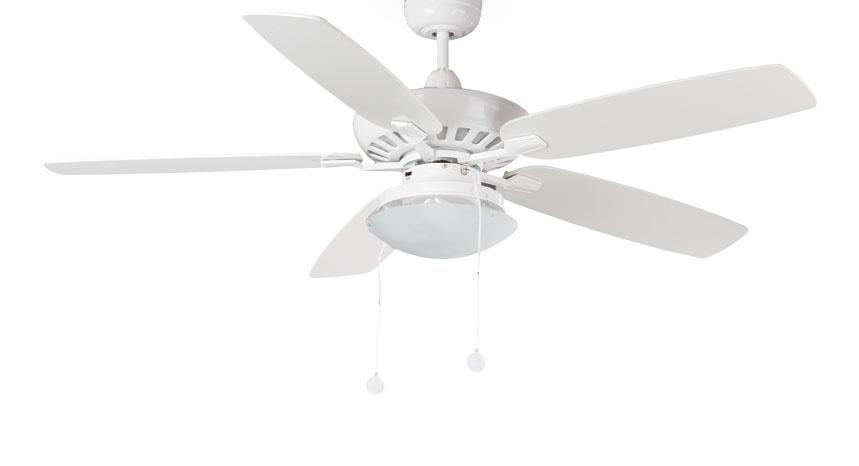 Kadmat 1 Fan with light white 5 blades ø132cm