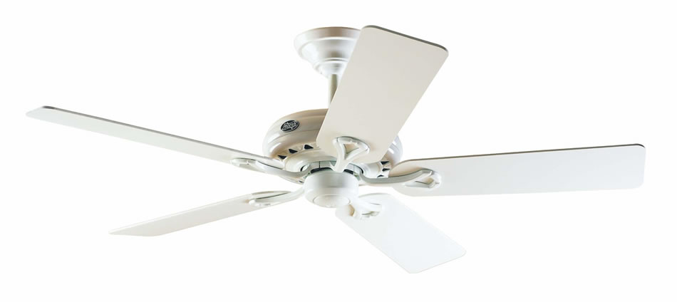 Savoy Hunter Fan Ceiling white 5 blades ø132cm