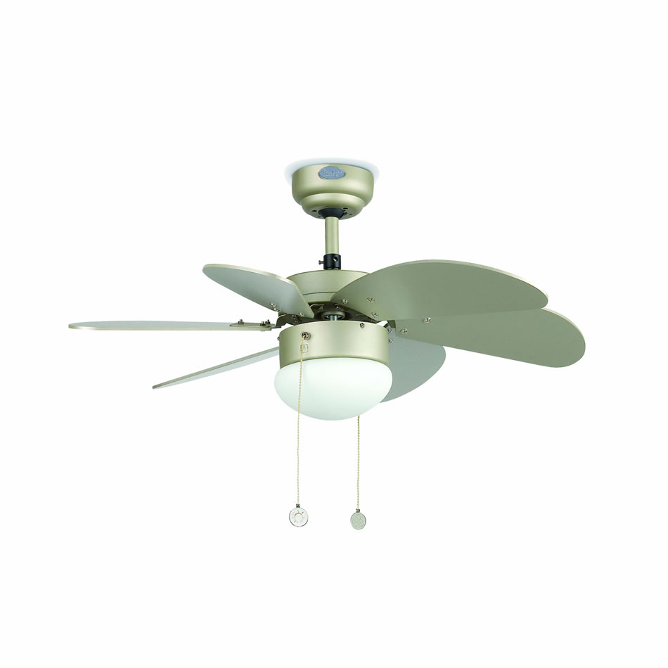 Palao Fan with light 6 blades ø82cm Grey