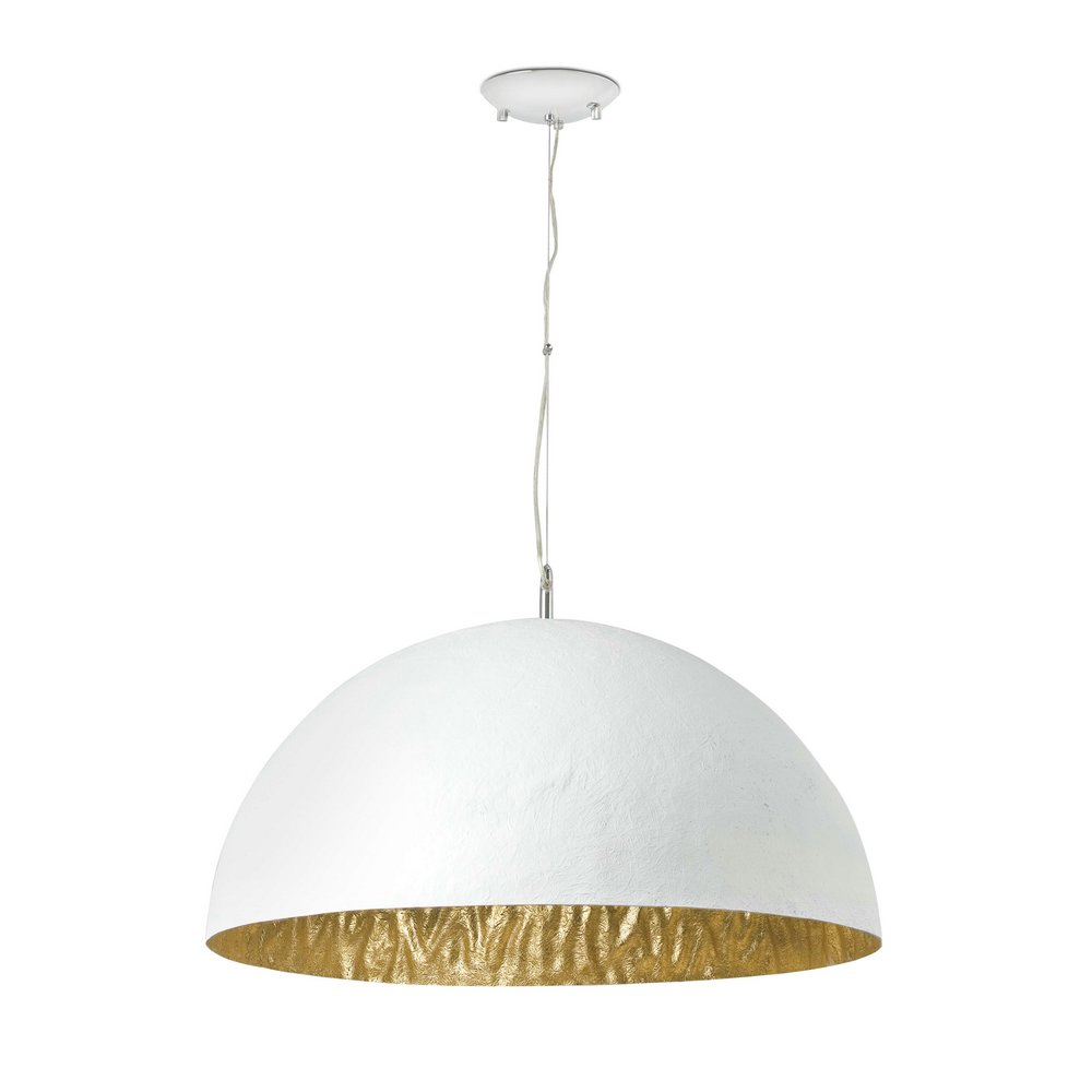 Magma Pendant Lamp Small 3L E27 60w white + Golden ø70cm