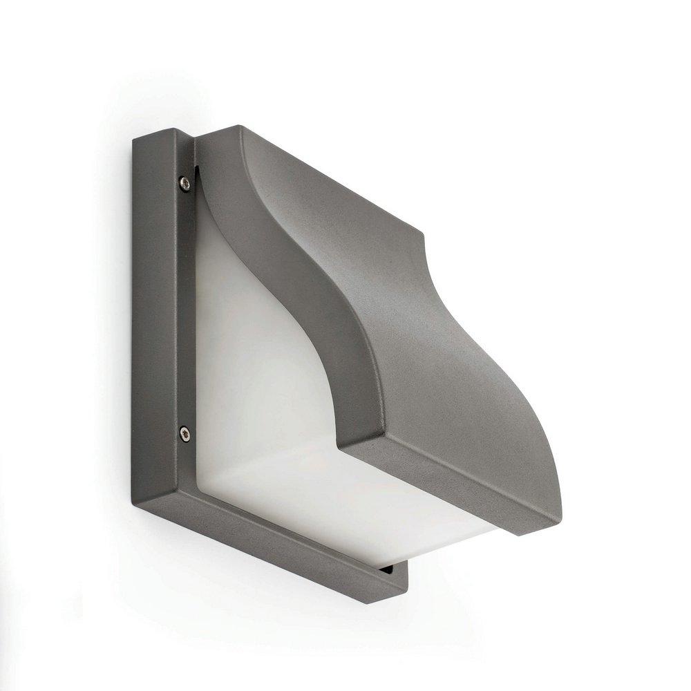 Suma Wandleuchte im Freien 25cm E27 2x15w Grau Oscuro