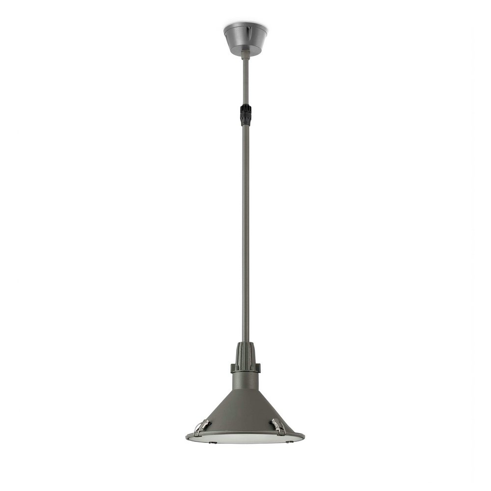 Bell Pendant Lamp Outdoor telescopic Grey Dark E27 23w
