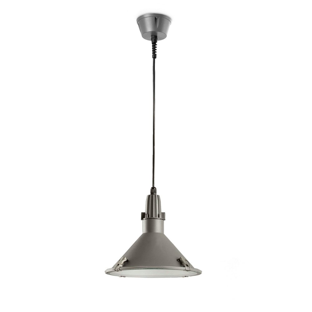 Bell Pendant Lamp Grey Dark E27 23w