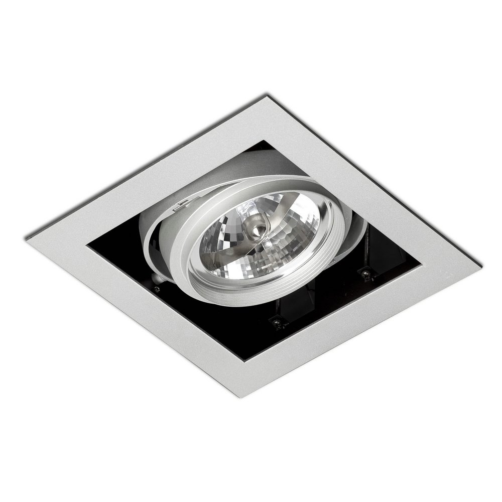 Gingko Recessed Ceiling adjustable 1x QR-111 100w Black