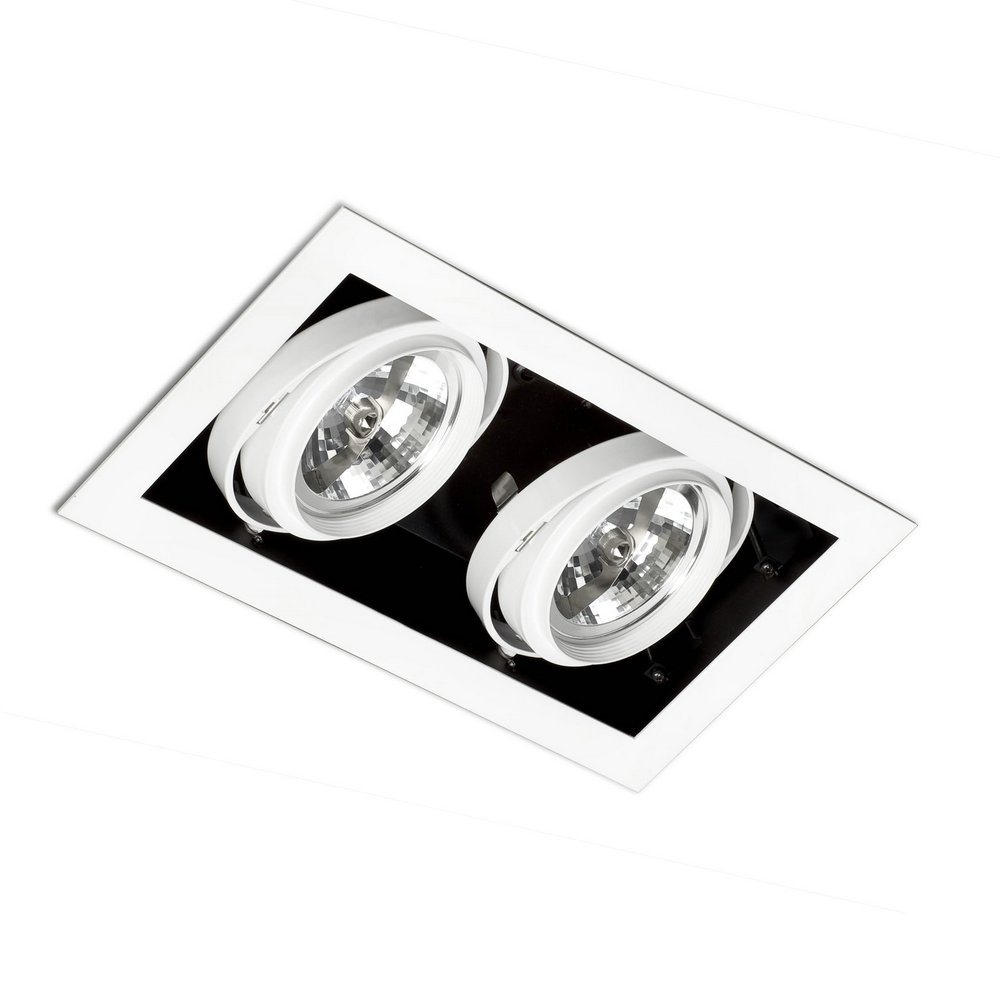 Gingko Recessed Ceiling adjustable 2xQR-111 100w Black