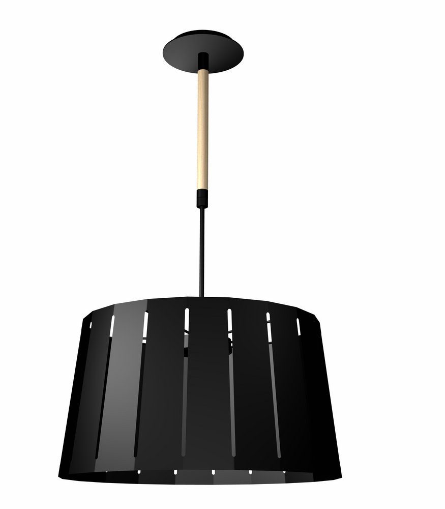Mix Pendant Lamp Black 1 E27 60w 445MM