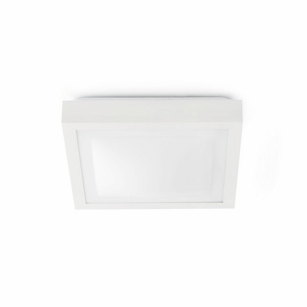 Tola 1 Plafón Baño 27x27cm 1xE27 20w IP44 blanco