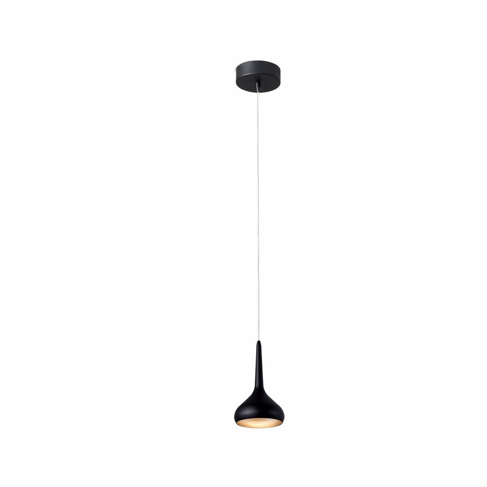 Tempo Suspension LED 8w Noir et d´Or