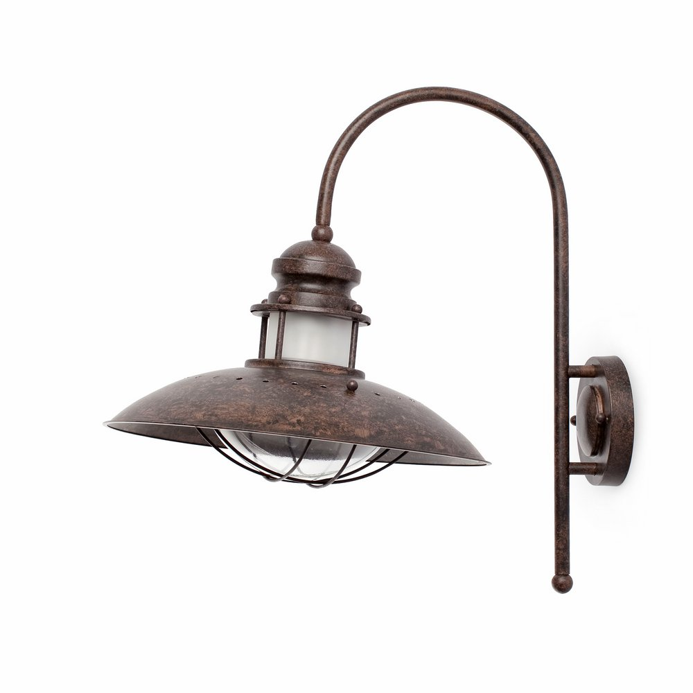 Winch Wall Lamp 2 x1 E27 60w Brown