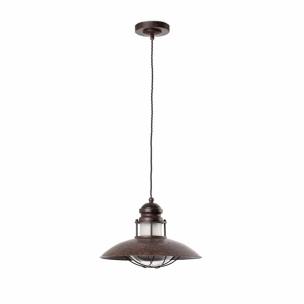 Winch Pendant Lamp x1 E27 60w Brown