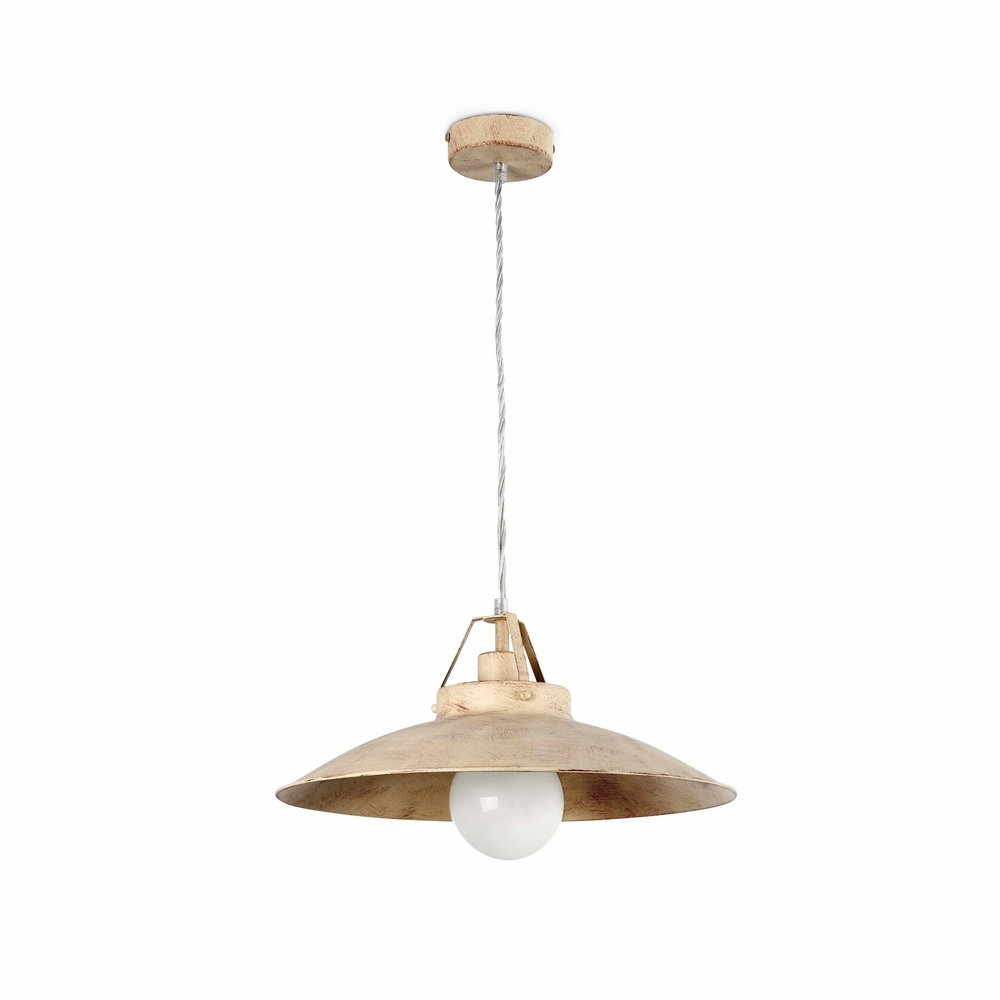 Tavern Large Pendant Lamp 1L E27 60w white roto