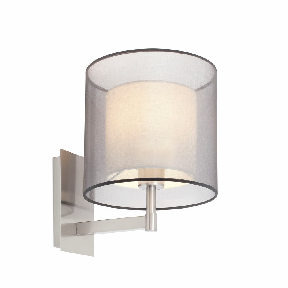 Saba Wall Lamp níquel Matt 1 E27 40w
