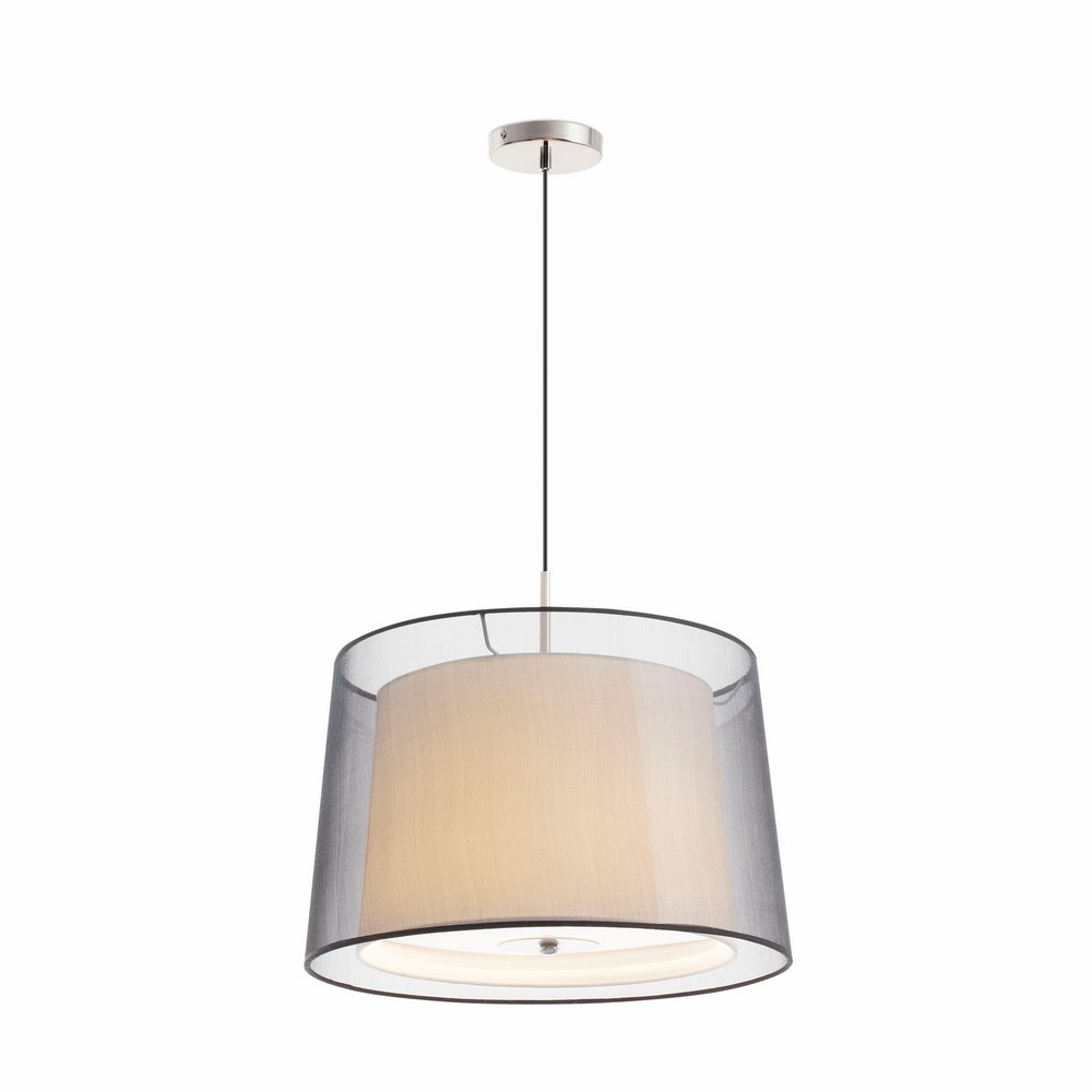 Saba Suspension níquel Mat 3 E27 40w ø41