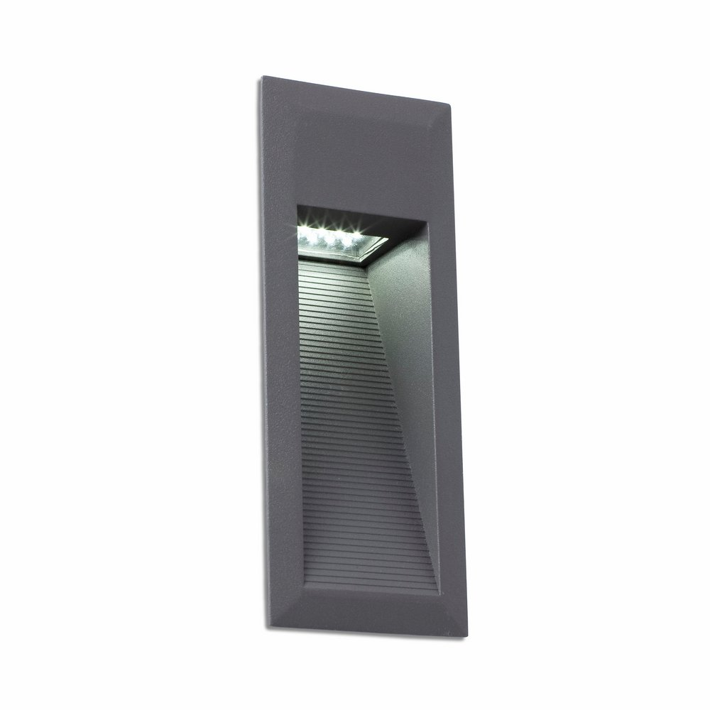 Landai Recessed wall LED 1x1.5w Grey oscuro