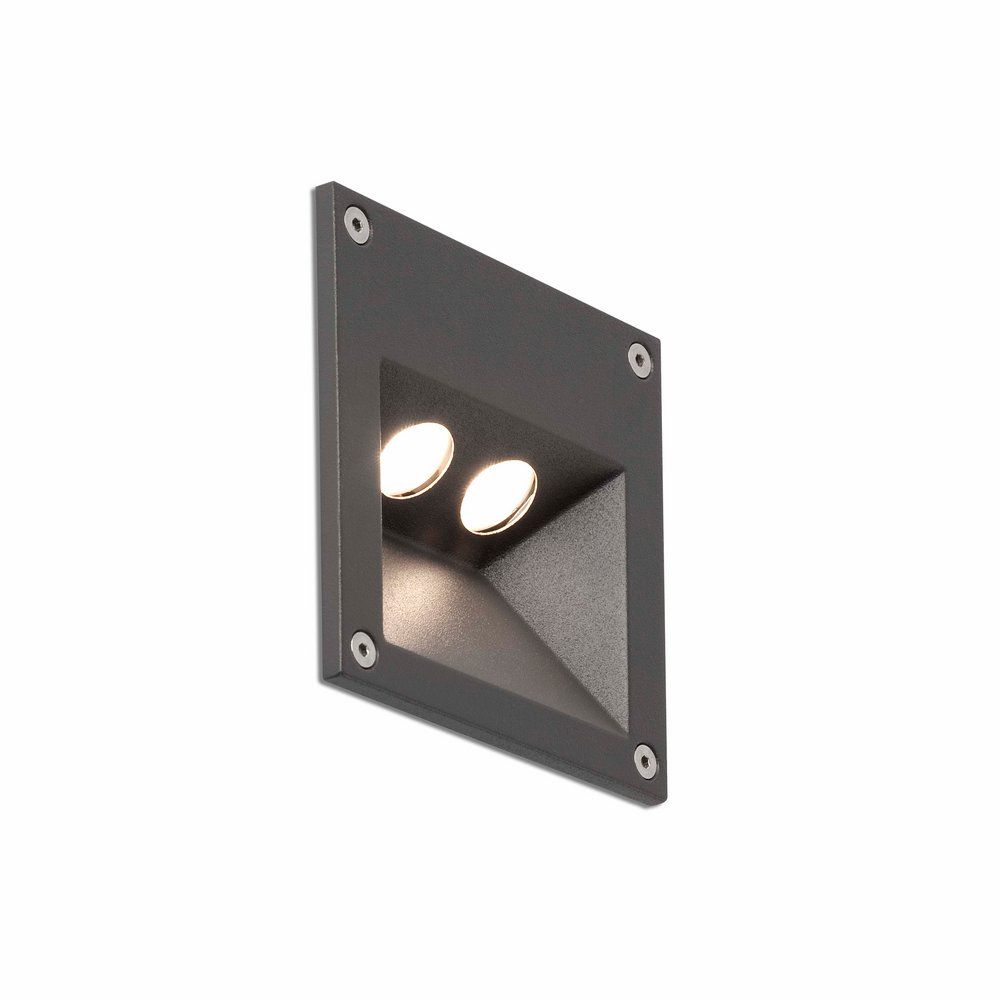 Citrus 2 Empotrable Pared 2xLED 3w 4000K - Gris oscuro