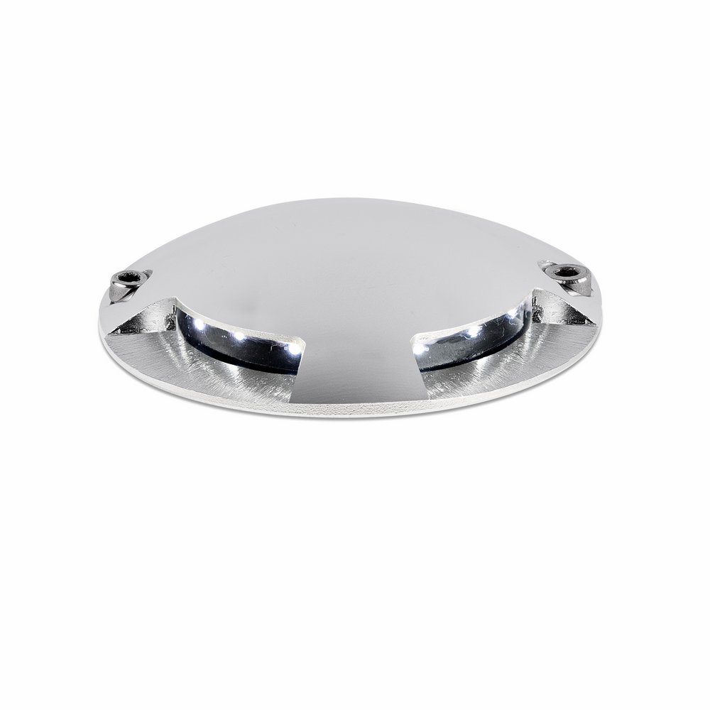 Keenan 3 Recessed suelo LED 1w Nickel mate