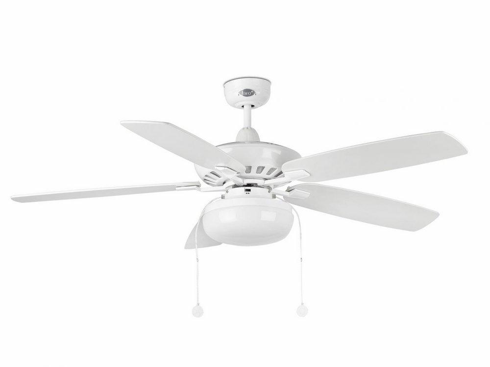 Kadmat Fan with light Structure white E27 2x15w ø132cm blades Grey/white
