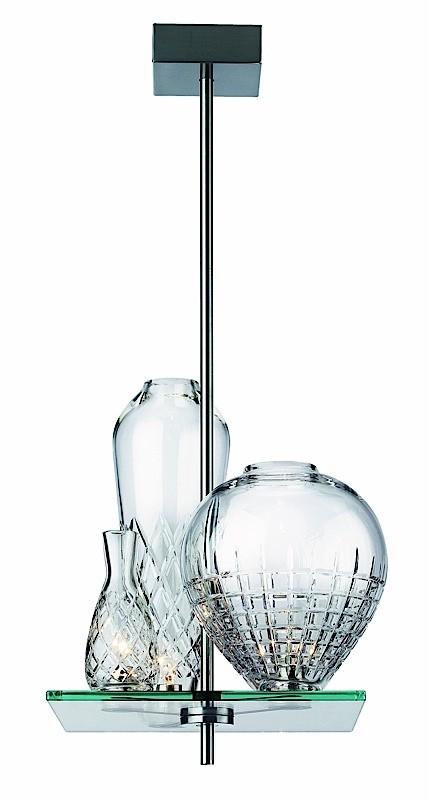 Cicatrice of Luxe 3 Pendant Lamp 80cm steel Nickel opaque