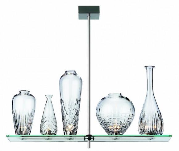Cicatrice of Luxe 5 Pendant Lamp 80cm steel Nickel opaque
