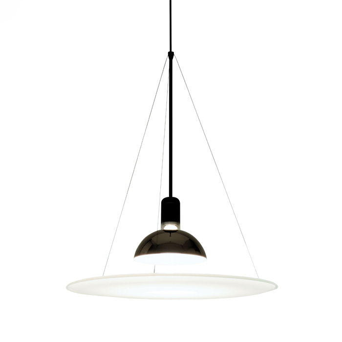 Frisbi Pendant Lamp 1x105W E27 Black/Chrome/opal