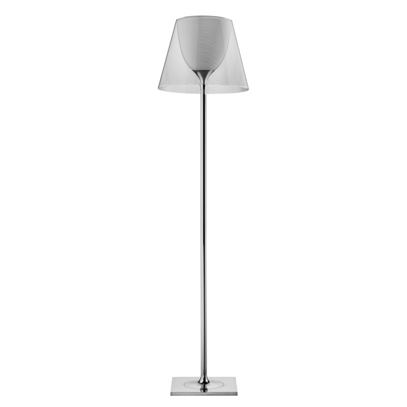 Ktribe F2 lámpara of Floor Lamp 162cm 1x150w E27 Chrome/Transparent
