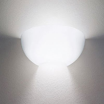 Nord FL Wall Lamp Glass white opal Filter ámbar