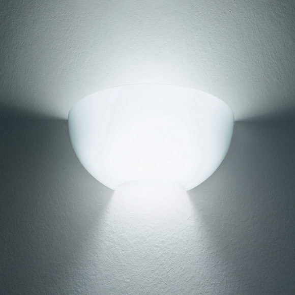 Nord I Wall Lamp Glass white Filter ámbar