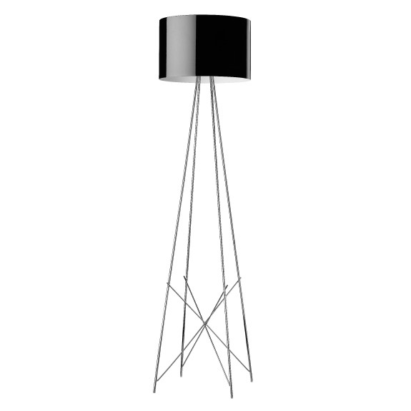 Ray F2 lámpara of Floor Lamp 171cm E27 1x205w Black