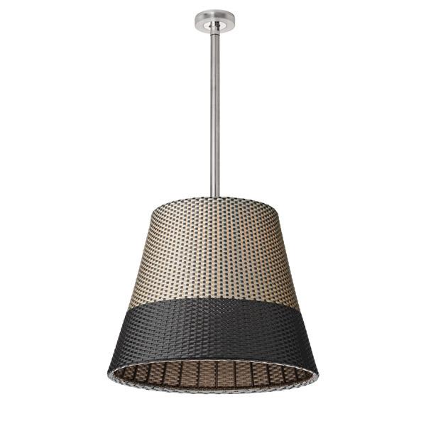 Romeo Outdoor C3 Lámpara Colgante de Exterior 71cm E27 Panama Bicolor
