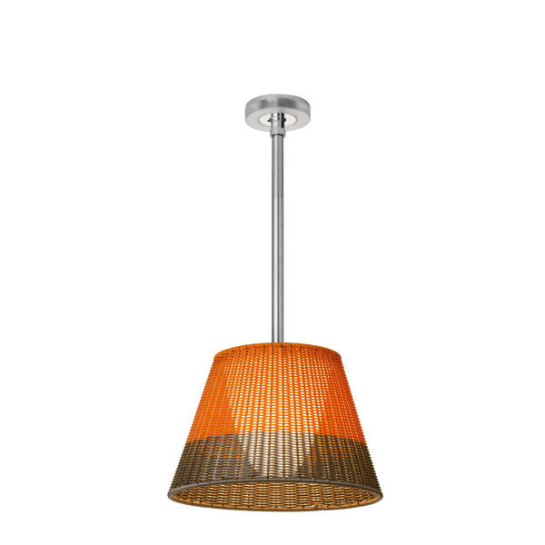 Romeo Outdoor C1 Pendant Lamp of Outdoor Fluorescent 60cm PVC orange/Grey