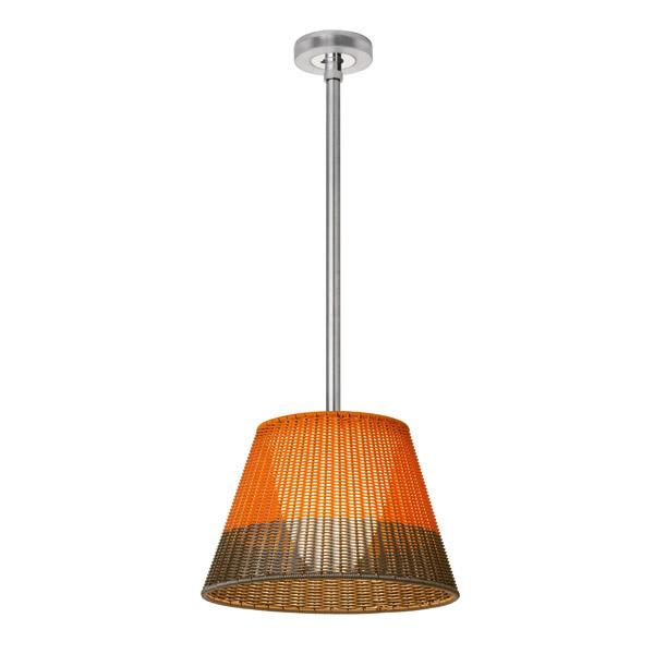 Romeo Outdoor C1 Lámpara Colgante de Exterior Fluorescente 80cm PVC Naranja/gris
