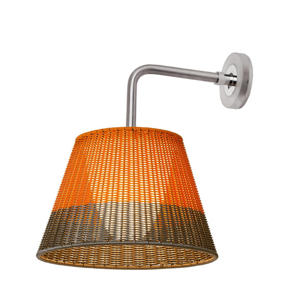 Romeo Outdoor W1 Applique de Extérieure Fluorescent PVC orange/Gris