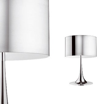 Spun light T2 Aluminium Table Lamp