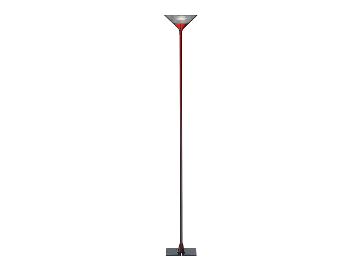Papillona lámpara of Floor Lamp R7s dimmable Black Red