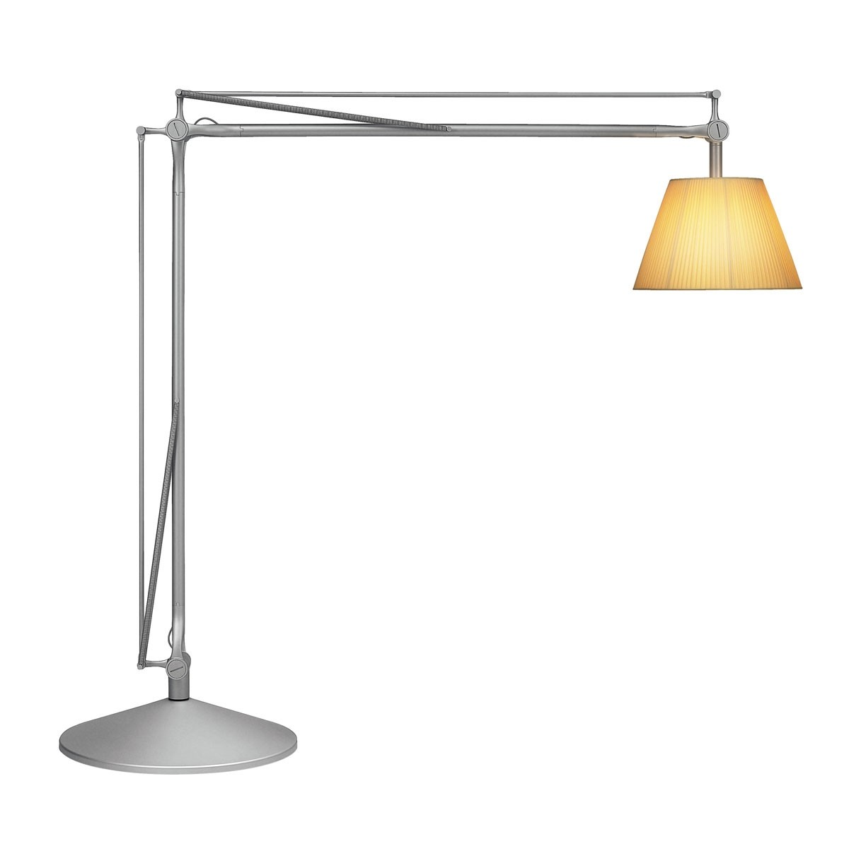 Superarchimoon lámpara of Floor Lamp E27 HSGS dimmable Silver Matt Diffuser tela